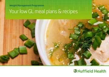Your low GL meal recipes guide - Nuffield Health