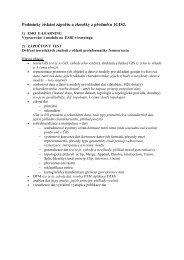 Požadavky na zápočet a zkoušku - GIS server na FŽP UJEP