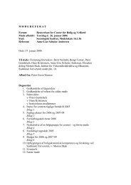 Referat fra bestyrelsesmøde 26.1.2006 - Center for Boligforskning