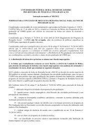 Normas para concessão de bolsas da CAPES - UFRRJ