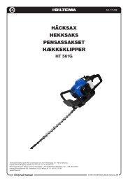 HÄCKSAX HEKKSAKS PENSASSAKSET HÆKKEKLIPPER - Biltema