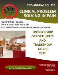 clinical problem solving in pain course sponsorship & tradeshow ...