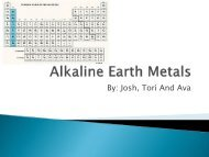Alkaline Earth Metals - Nichols School