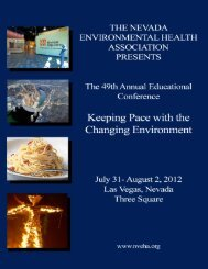 table of contents - Nevada Environmental Health Association