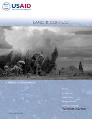 Land and Conflict - A Toolkit for Intervention