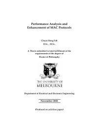 Performance Analysis and Enhancement of MAC Protocols - CiteSeer