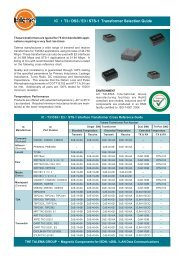 IC • T3 / DS3 / E3 / STS-1 Transformer Selection Guide - Talema India