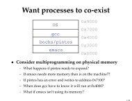Virtual Memory HW