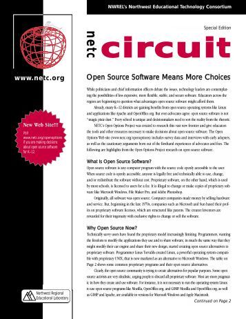 Open Source Software Means More Choices - Northwest ...