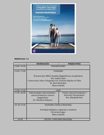 Congreso 12- 15 de octubre - Sociedad de Psiquiatría y Neurología ...