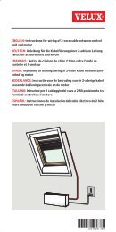 ENGLISH: Instructions for wiring of 2-core cable between ... - Velux