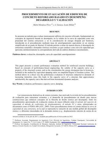 procedimiento de evaluación de edificios de concreto reforzado ...
