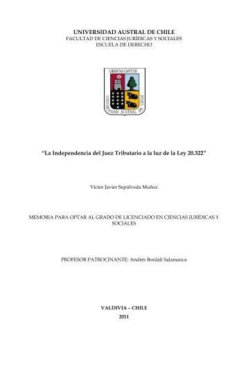 UNIVERSIDAD AUSTRAL DE CHILE - CyberTesis UACh ...