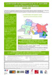 La demande de logement social au 1er avril 2008 dans les Bouches ...