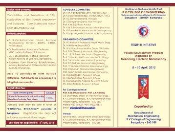 8-10 April 2013 Mechanical - R V College of Engineering