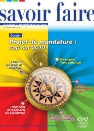 Projet de mandature - Chambre des Métiers et de l'Artisanat