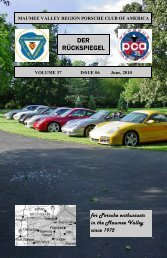Volume 37 Issue 6, June 2010 - Maumee Valley - Porsche Club of ...