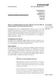 27. juli 2009 J.nr. - Energiklagenævnet