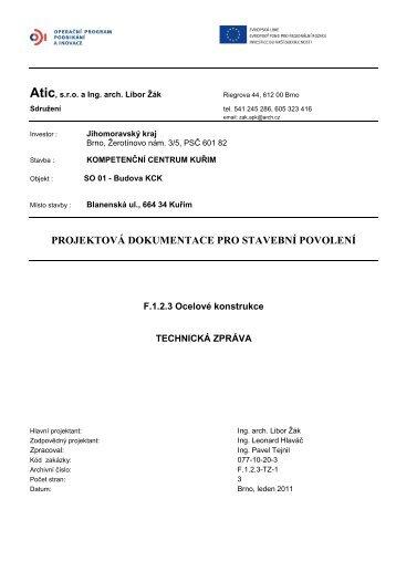 F.1.2.3-TZ-1 Technicka zprava.pdf - Jihomoravský kraj