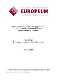 PDF souboru - EUROPEUM Institute for European Policy
