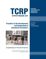 TCRP Synthesis 87 - Transportation Research Board