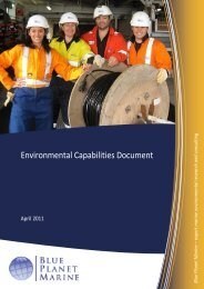 Environmental Capabilities Document - Blue Planet Marine