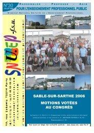 Journal SNUEP n°30