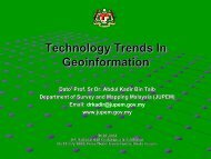 Technology Trends In Geoinformation - Malaysia Geoportal