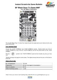 Instant Scratch-ItsGame Bulletin $4* Aladdin's Fortune Game 6040