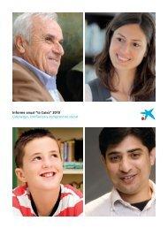 """Informe anual """"la Caixa"""" 2010"""