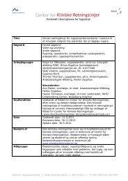 Klinisk retningslinje for rygestopinterventioner i relation til et ...