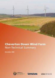 Cheverton Down Wind Farm, Isle of Wight NTS, December ... - IEMA