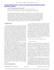 Coarse-graining limits in open and wall-bounded dissipative particle ...
