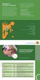 International Degree Courses in Bavaria - Bayern