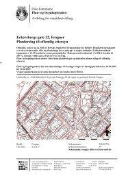 Eckersbergs gate 22, Frogner Planforslag til offentlig ettersyn