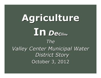 Water and Agriculture in Valley Center - Escondido Growers