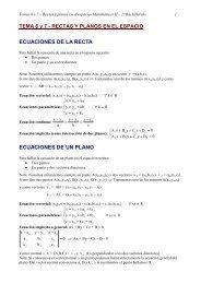 TEMA 6 y 7 - RECTAS Y PLANOS EN EL ESPACIO ECUACIONES ...