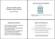 Secure Sockets Layer & Transport Layer Security (SSL/TLS)