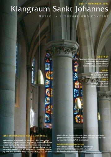 Klangraum Sankt Johannes - Katholische Kirchengemeinde Sankt ...