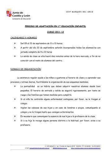 educación infantil 3 años - CEIP MARQUÉS DEL ARCO - Junta de ...