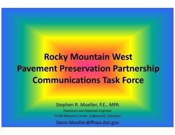 Rocky Mountain West Pavement Preservation Partnership ...