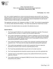 Order Page 1 of 2 Order under Section 69 and Order under ...