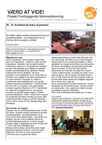 Nr. 14: Sundhed på tværs af grænser Del 2