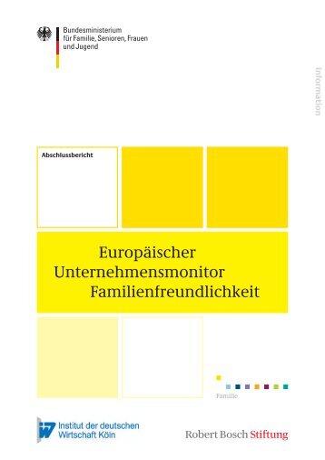 Europäischer Unternehmensmonitor Familienfreundlichkeit (PDF)