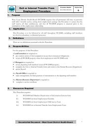 Exit or Internal Transfer From Employment Procedure - West Coast ...
