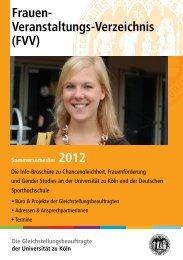NEW - Die Gleichstellungsbeauftragte - Universität zu Köln