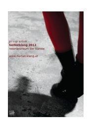 programm herbstklang 2012 resonanzraum der künste ... - fiveseasons