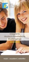 Integrierte deutsch-französische Studiengänge 2009/2010 - DFH