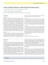 Anxiety and bipolar disorders - Journal of Psychopathology