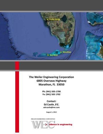 The Weiler Engineering Corporation 6805 ... - KeyWestCity.com